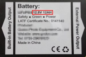 12.8 Volt Battery - Travelling with Batteries