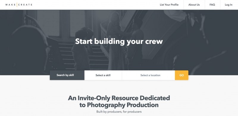 make create website header