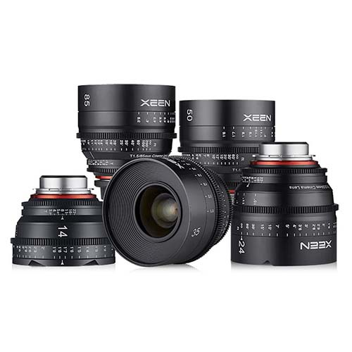 5-Lens Xeen Cine Kit Sony E-Mount