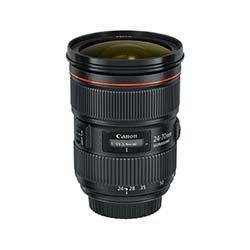 EF 24-70mm f/2.8L II Wide Angle Lens Rentals
