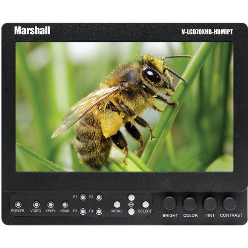 "Marshall 7"" Monitor (w/ HDMI, Component, Composite - all Pass-through)"