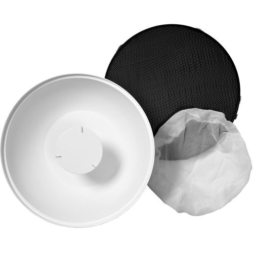 Beauty Dish Kit with grid and diffuser