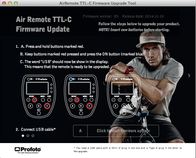 Air Remote TTL Firmware Update
