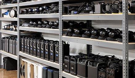 Bolt Productions Equipment Shelves